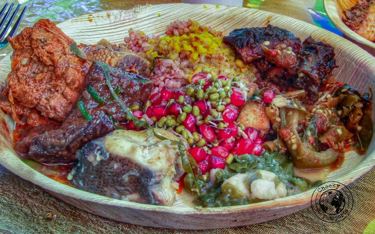 Nagaland food served at the Hornbill Festival