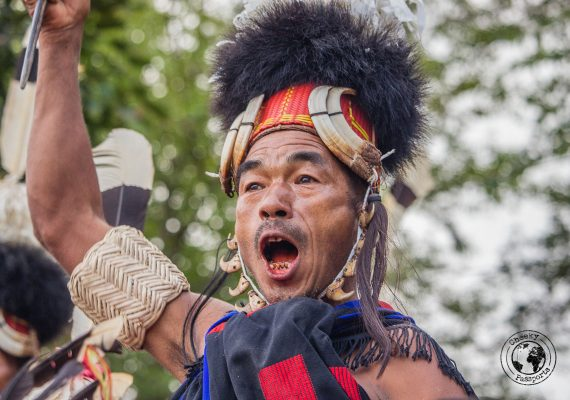 Participants get very excited at the Hornbill Festival