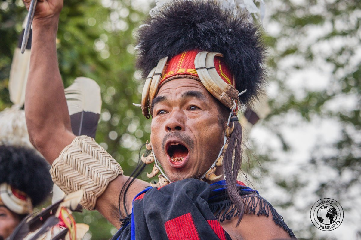 Participants get very excited at the Hornbill Festival - North East India Travel Guide