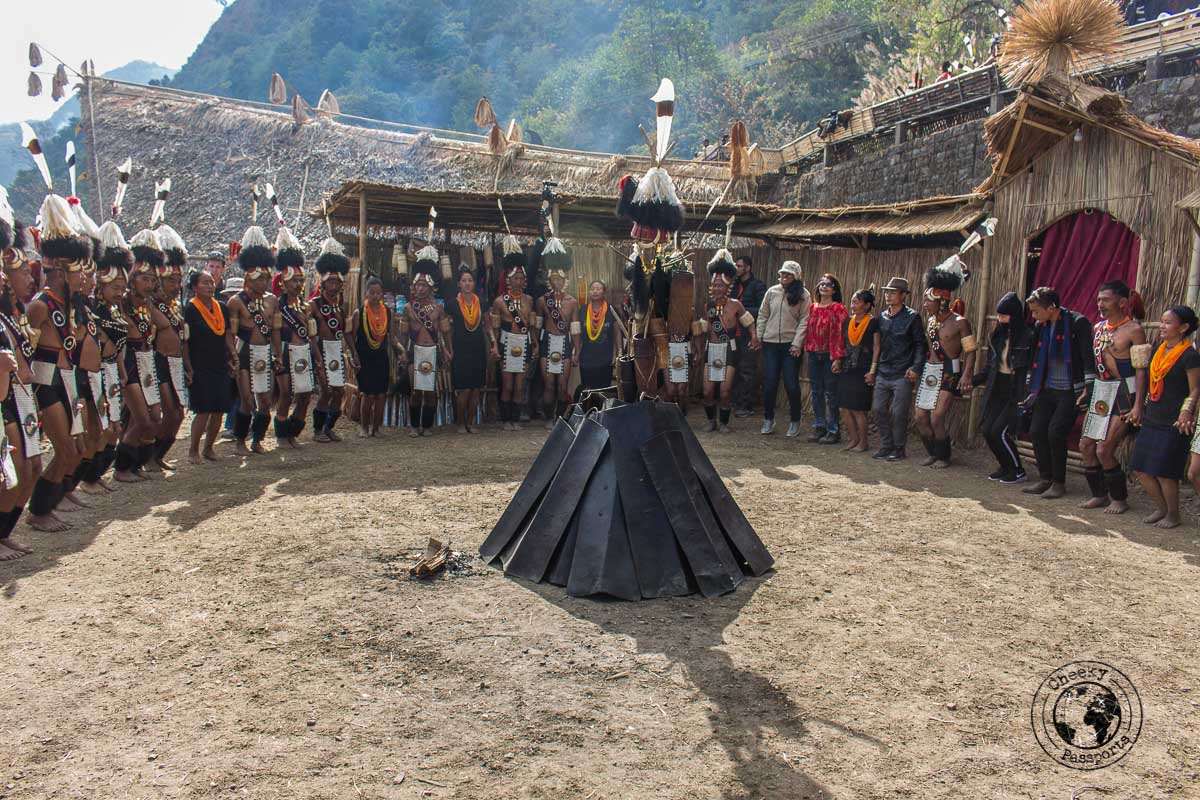 The tribes around their own Morung