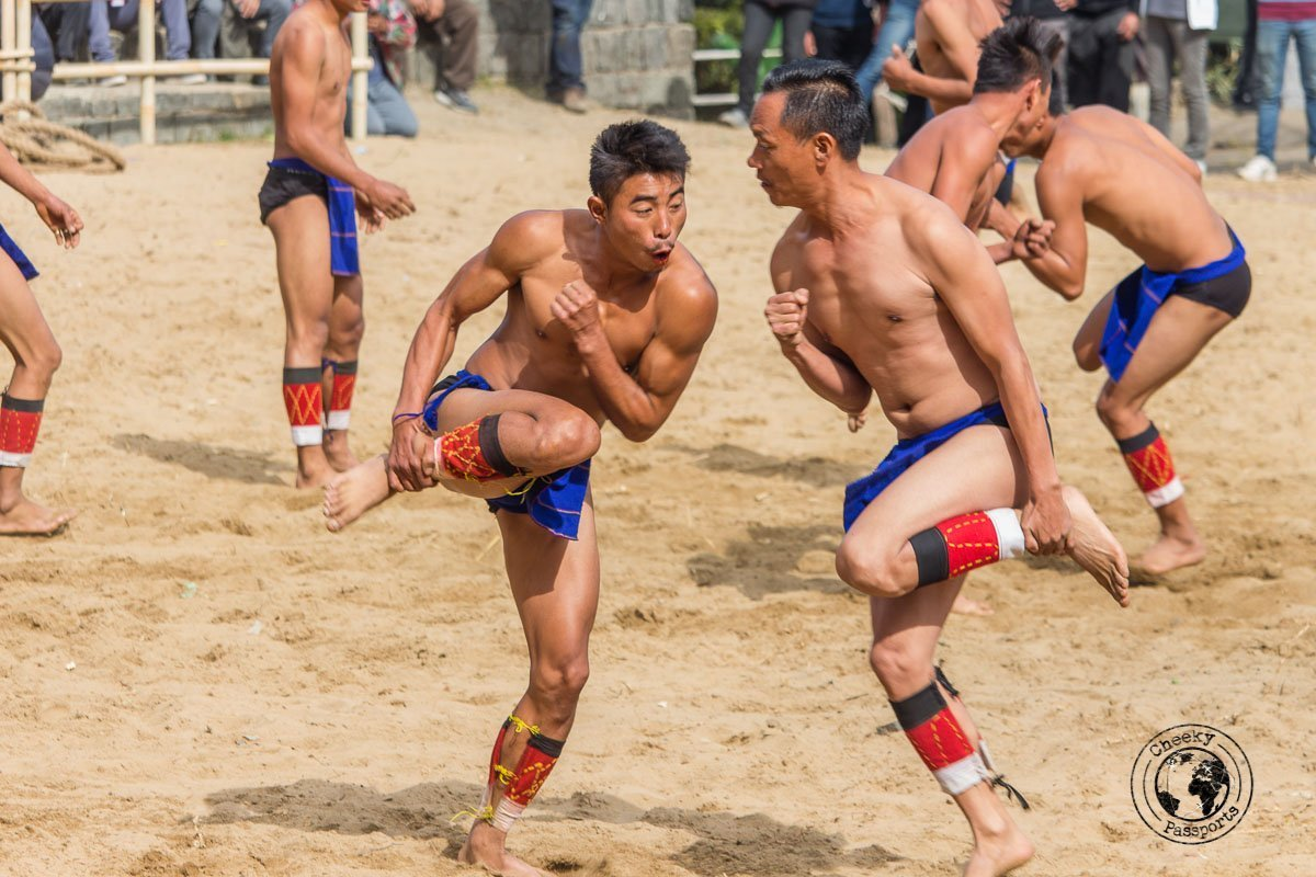 Traditional games at the hornbill festival