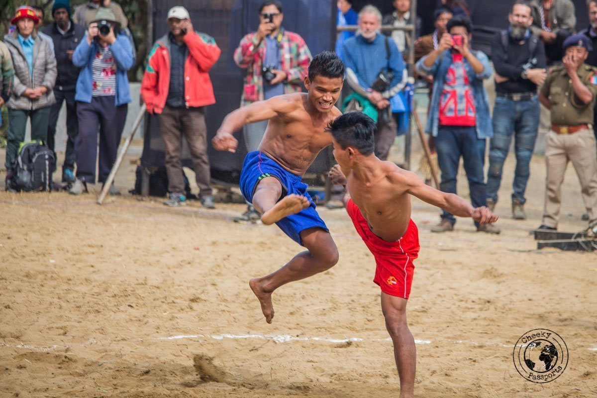 traditional boxing competition between tribes in Nagaland