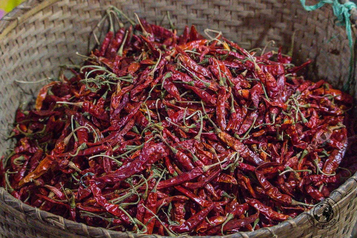 Red Peppers at the Ima Keithel market in Imphal - A good reason to travel from kohima to imphal
