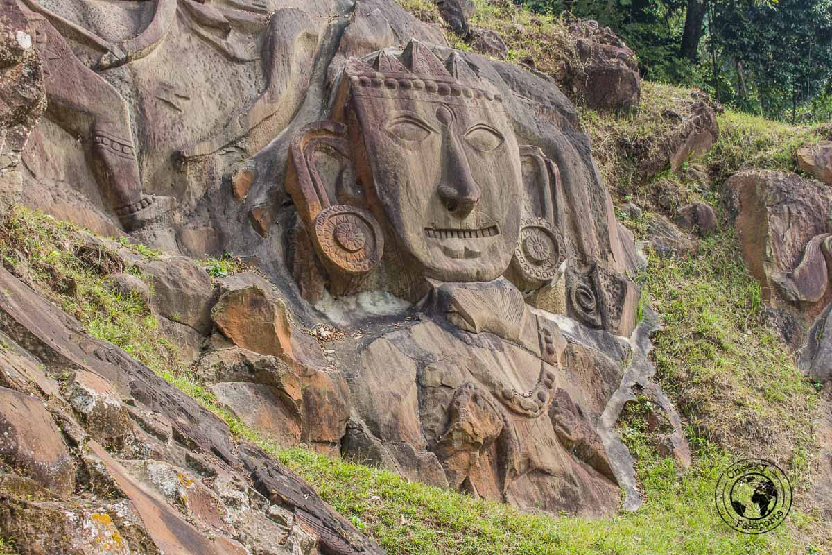 Divinities sculpted at Unakoti site in Tripura - North East India Travel Guide