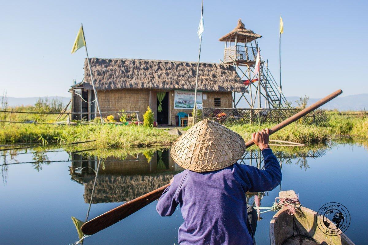 Lodging over the phumdi at Loktak lake in Manipur