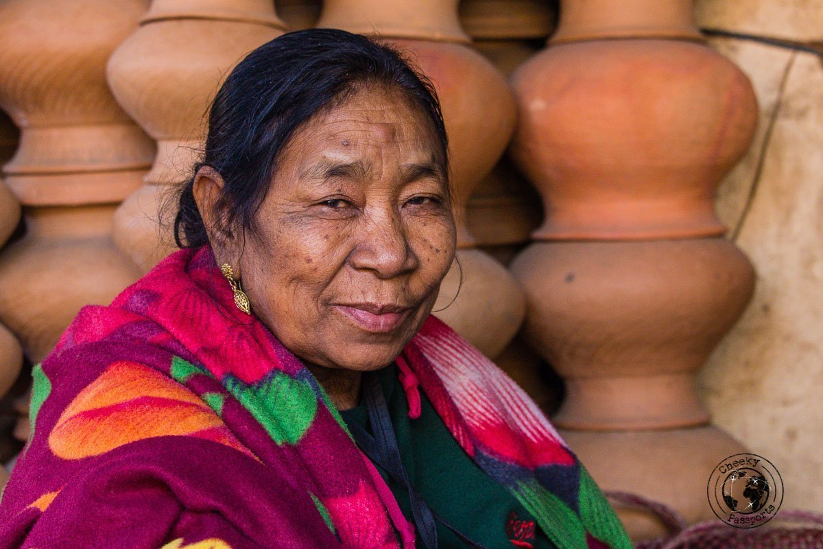Manipuri seller at the woman's market in Imphal