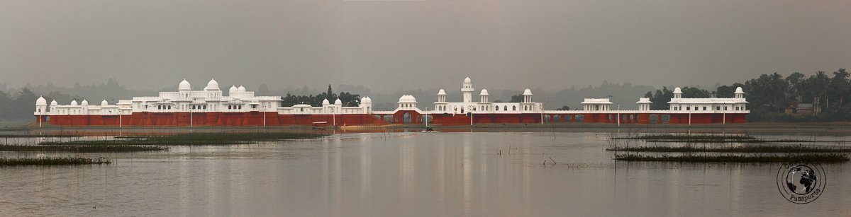 Panoramic of the Neermahal water palace, one of the top tourist places in tripura