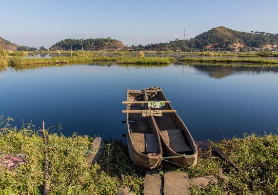 Views of the loktak lake in manipur