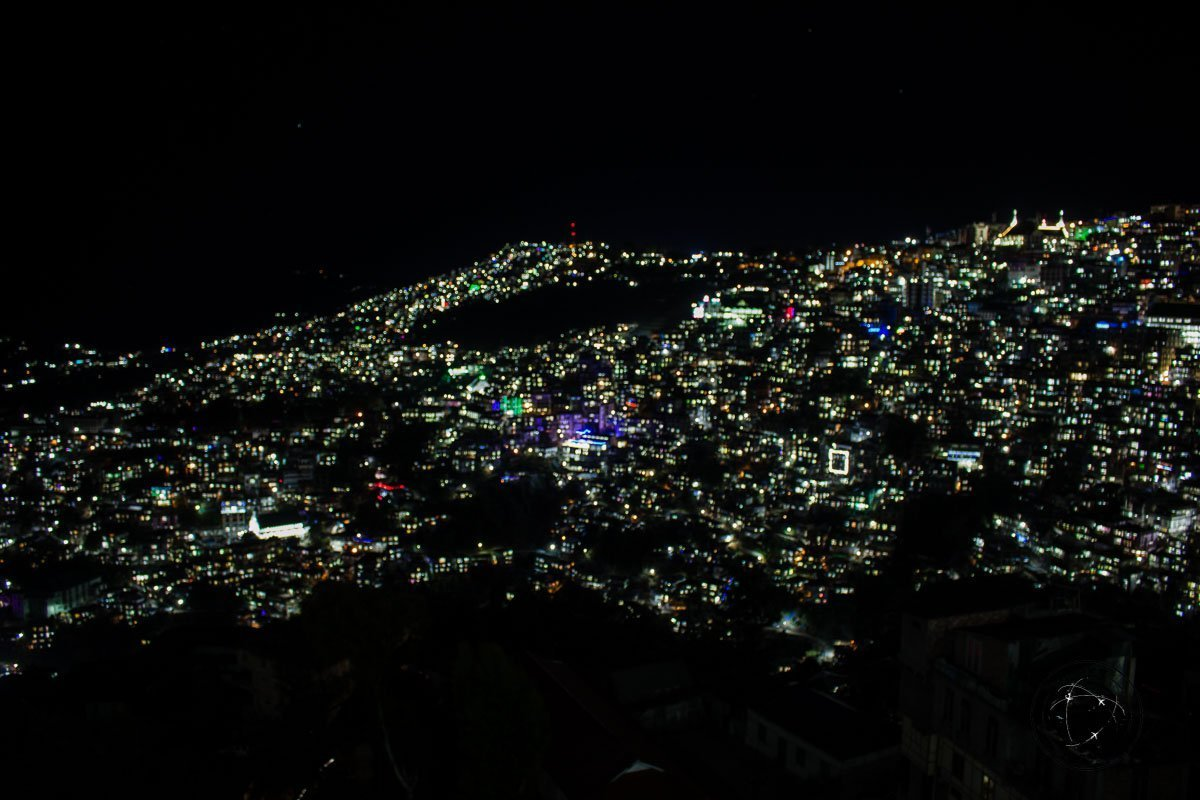 Aizawl by night