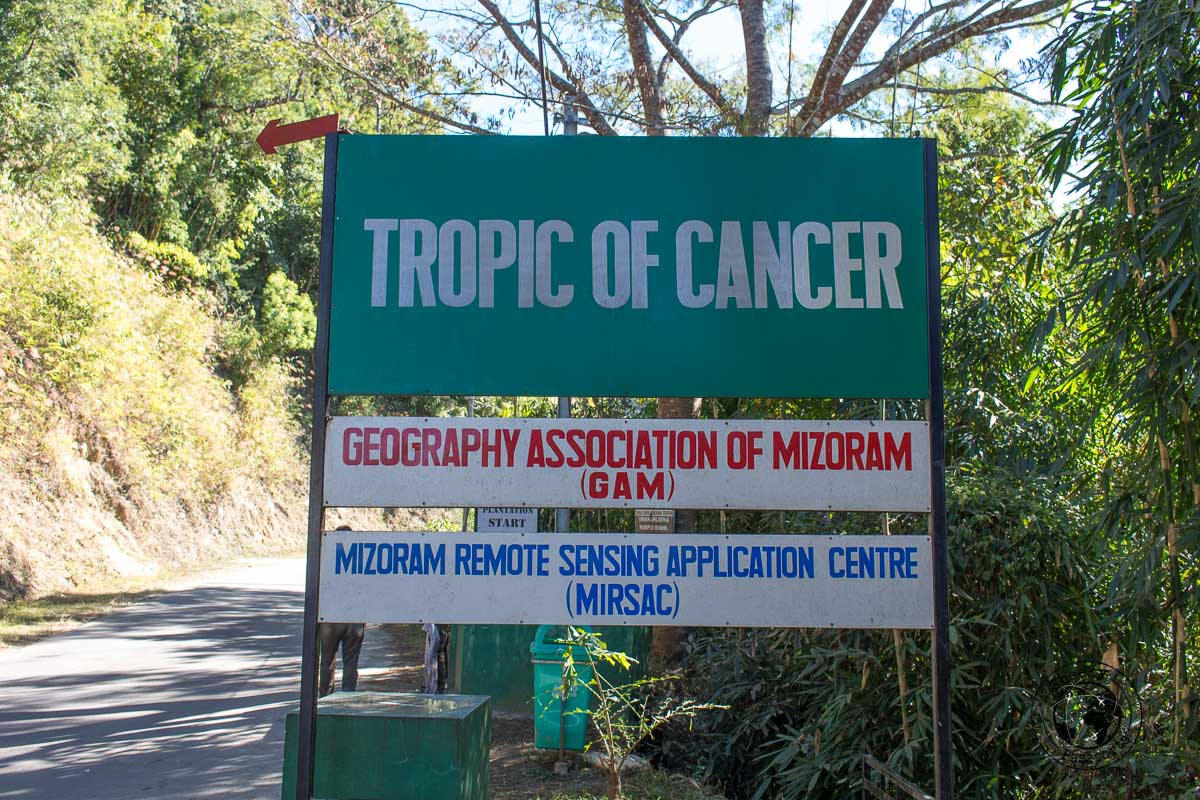 Crossing the tropic of cancer in Mizoram - Places to visit in Mizoram