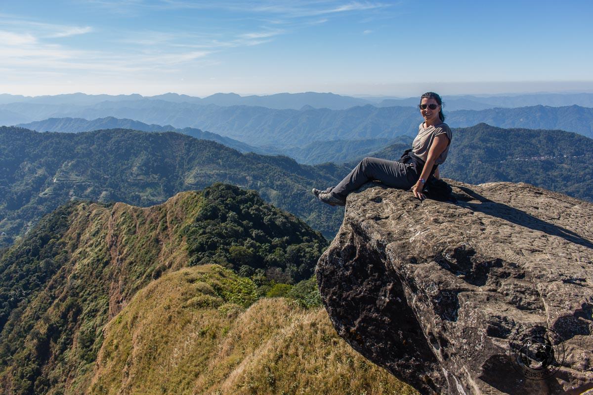 Michelle enjoying the view of Reiek Peak - North East India Travel Guide