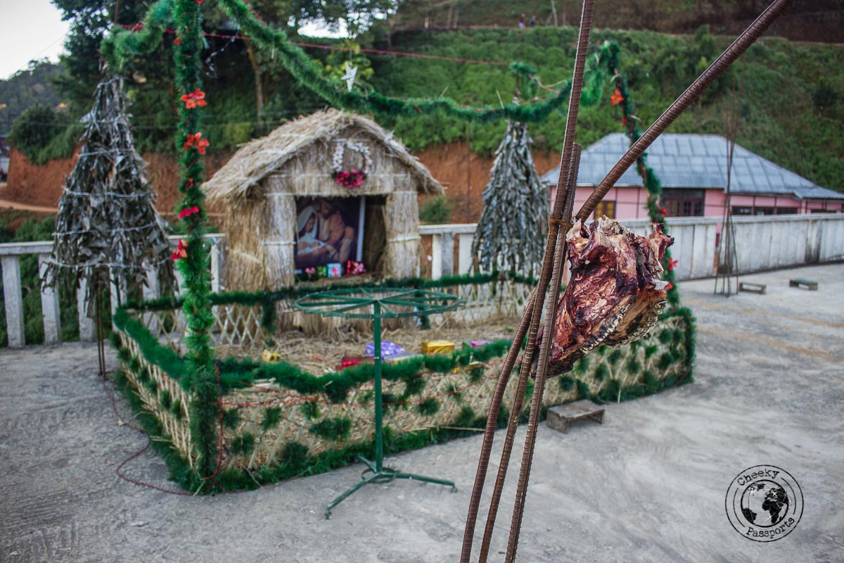 Quirky christmas decorations at Seilsuk - things to do in Aizawl