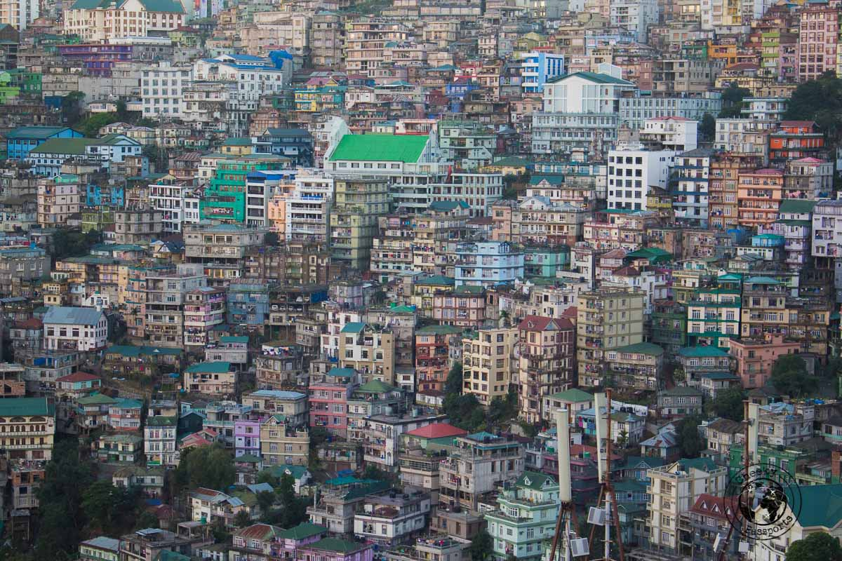 The city scape of Aizawl in Mizoram