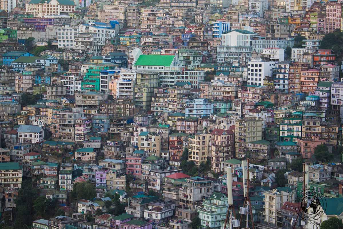 The city scape of Aizawl in Mizoram