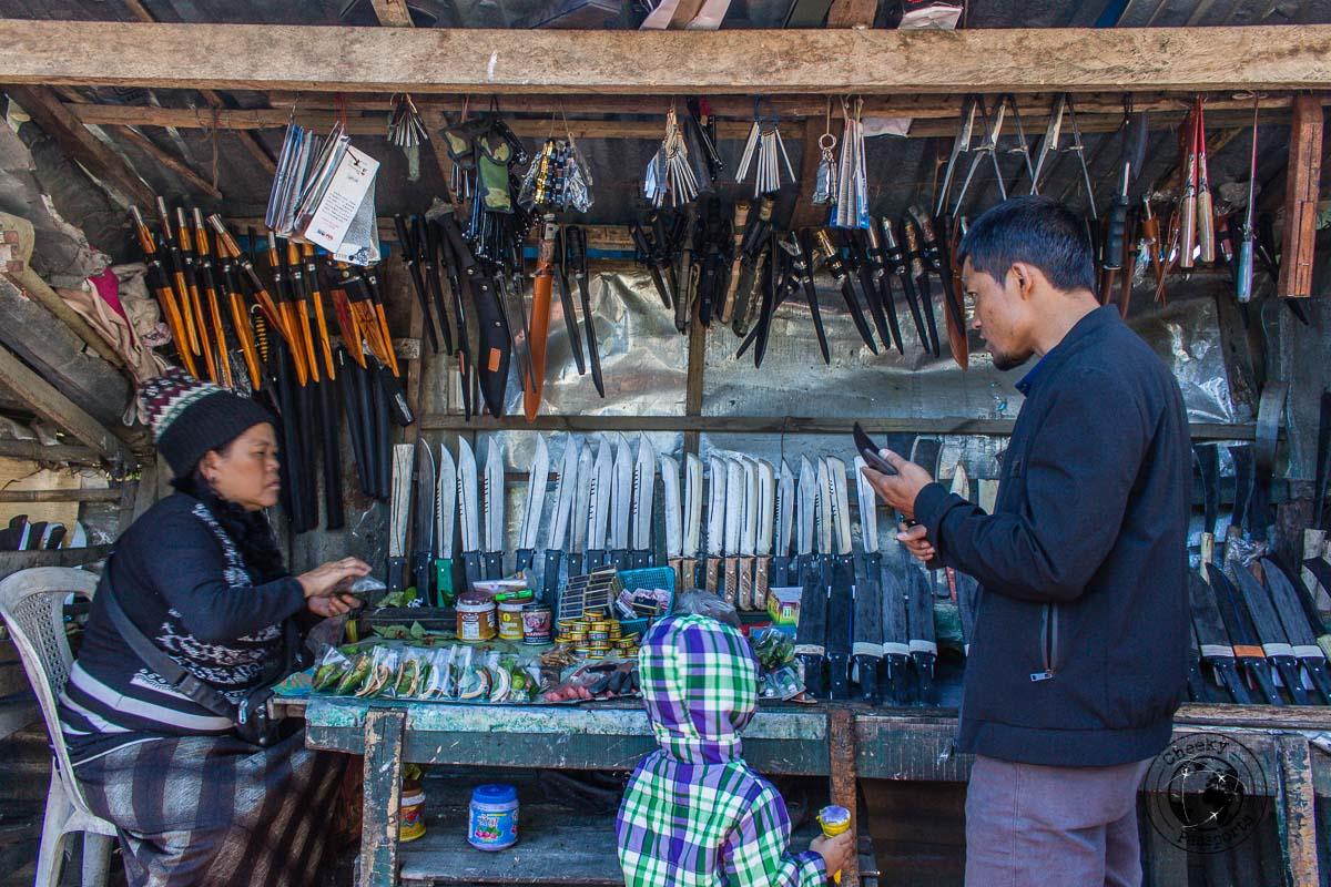 The stalls at Bara Bazar in Aizawl