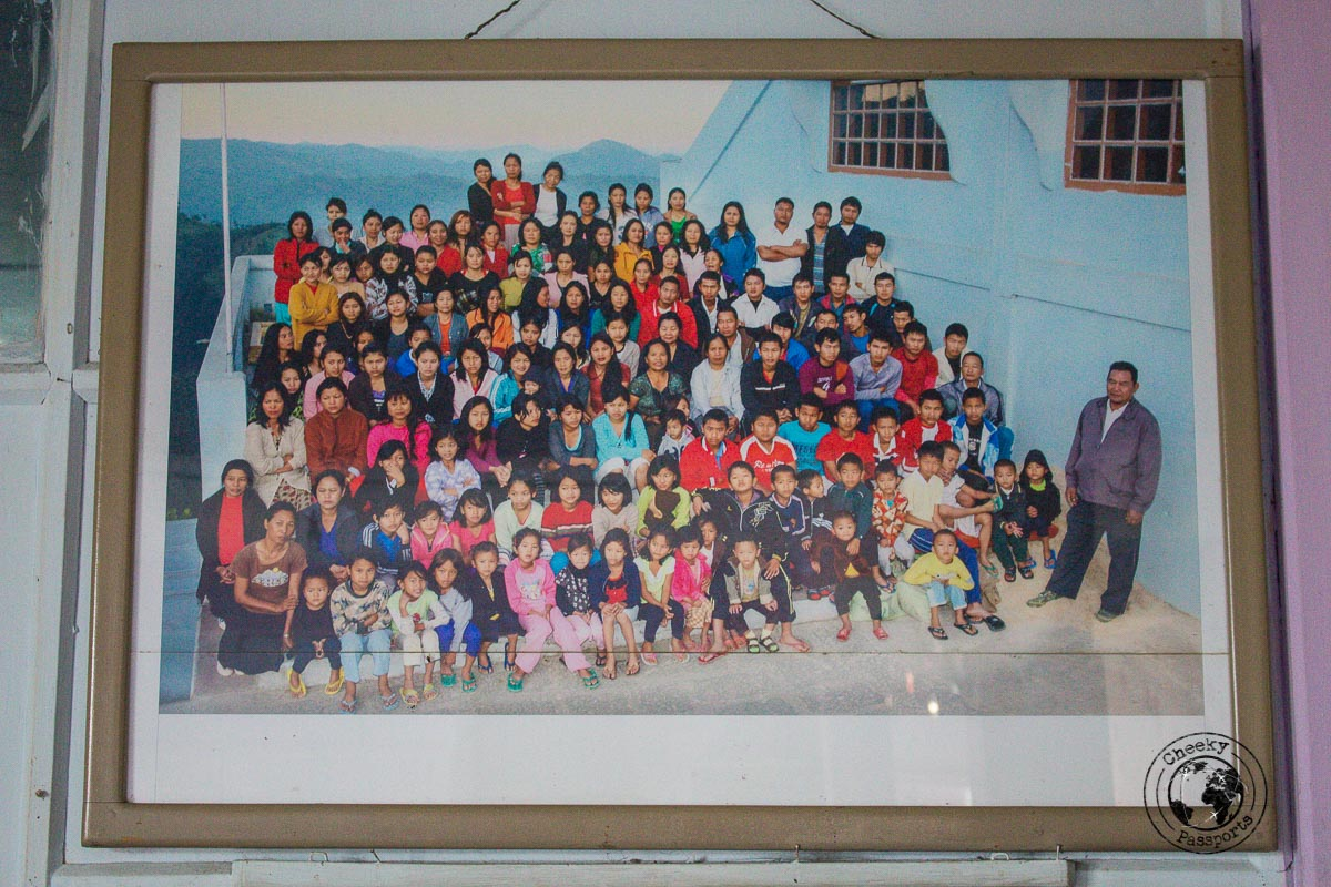 The world's largest family in the Baktawng village in Mizoram - Day trips from Aizawl