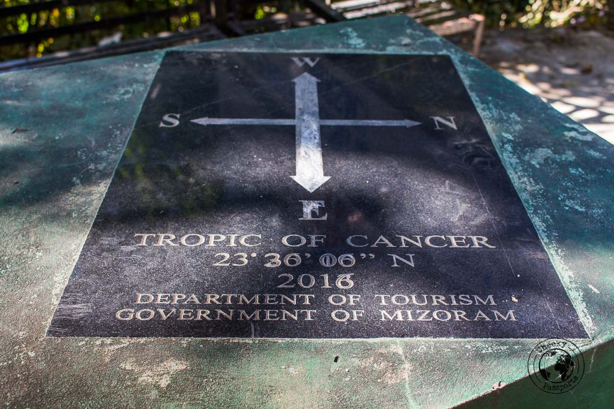 Tropic of cancer memento - things to do in Aizawl and places to visit in mizoram