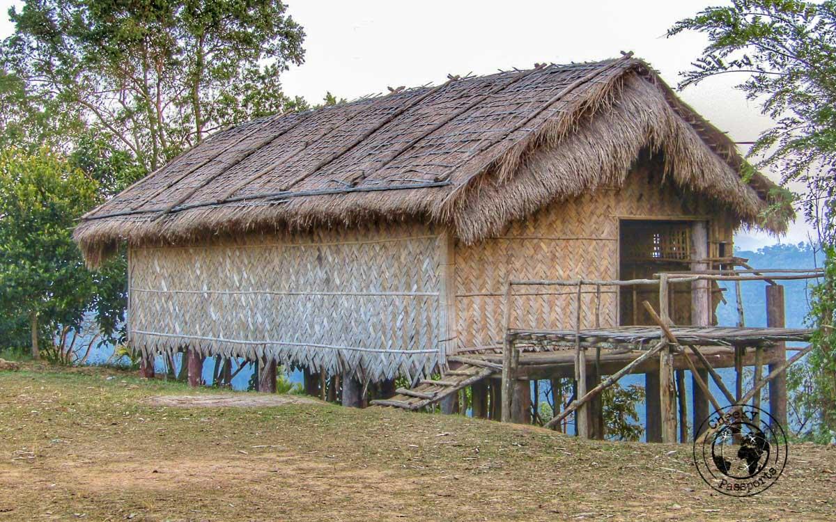 Typical houses displayed in Falkawn Mizoram