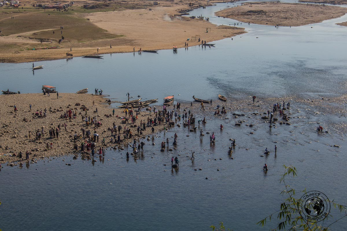 Bangladesh side of the dawki river