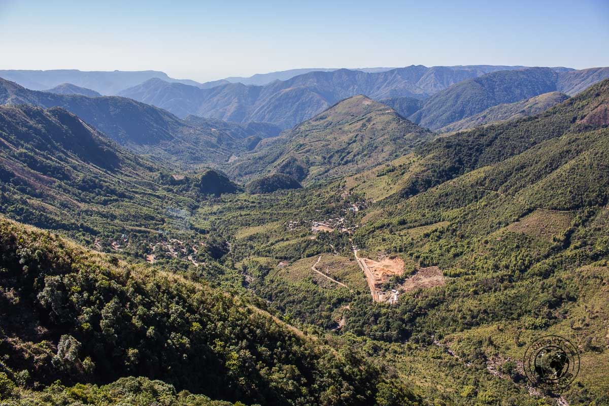 view of the Laitlum Canyon in meghalaya