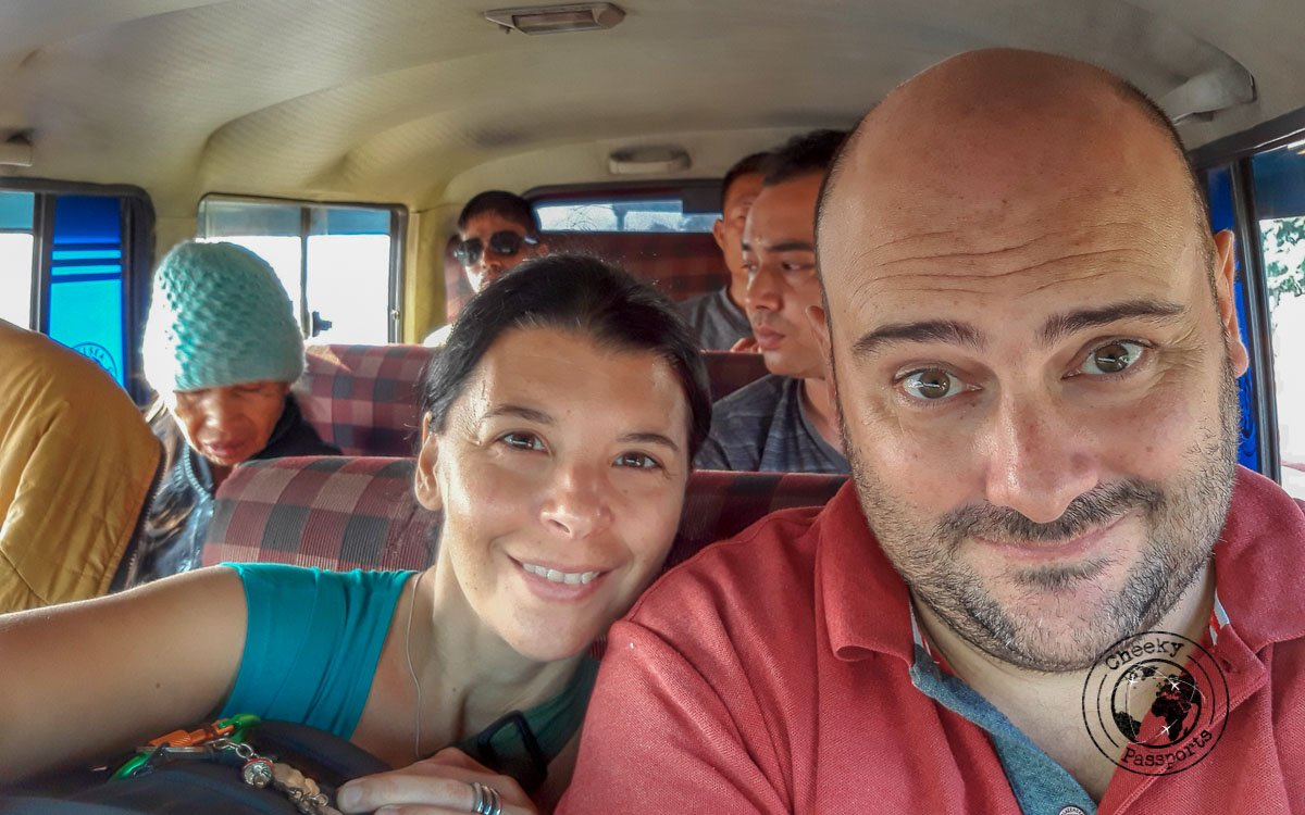 Inside a Sumo, one of many along our North East India itinerary