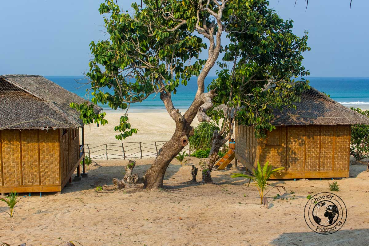 Beach huts over the beach
