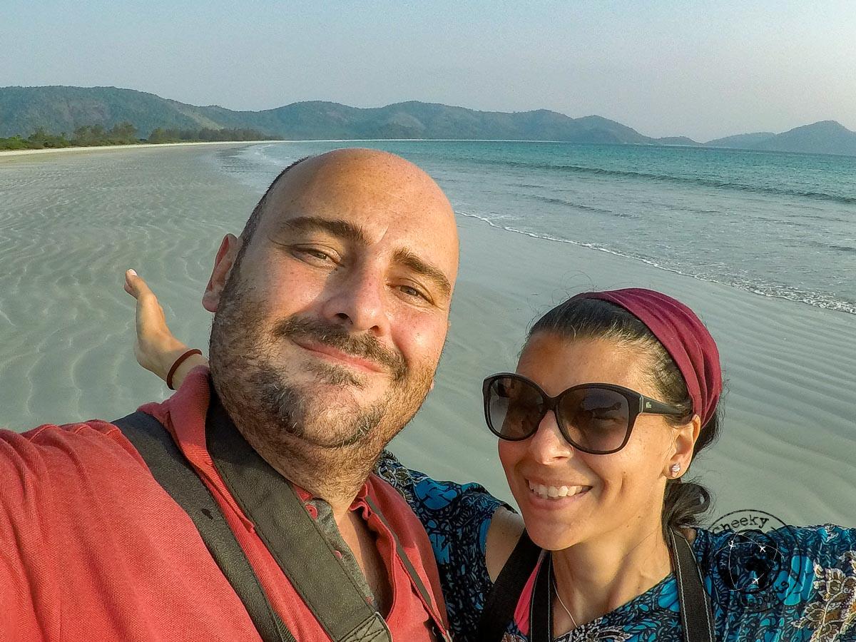 Cheekypassports couple enjoying the Dawei Peninsula