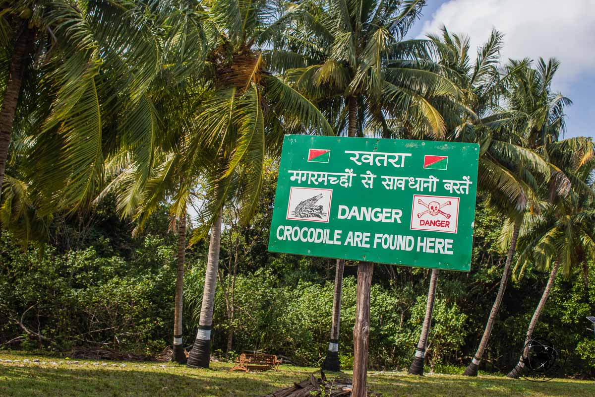 Crocodile sighting warnings along smith island, one of the top places to visit in andaman