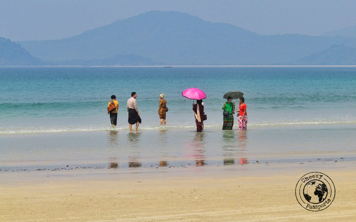 Family activities by the beaches of Dawei