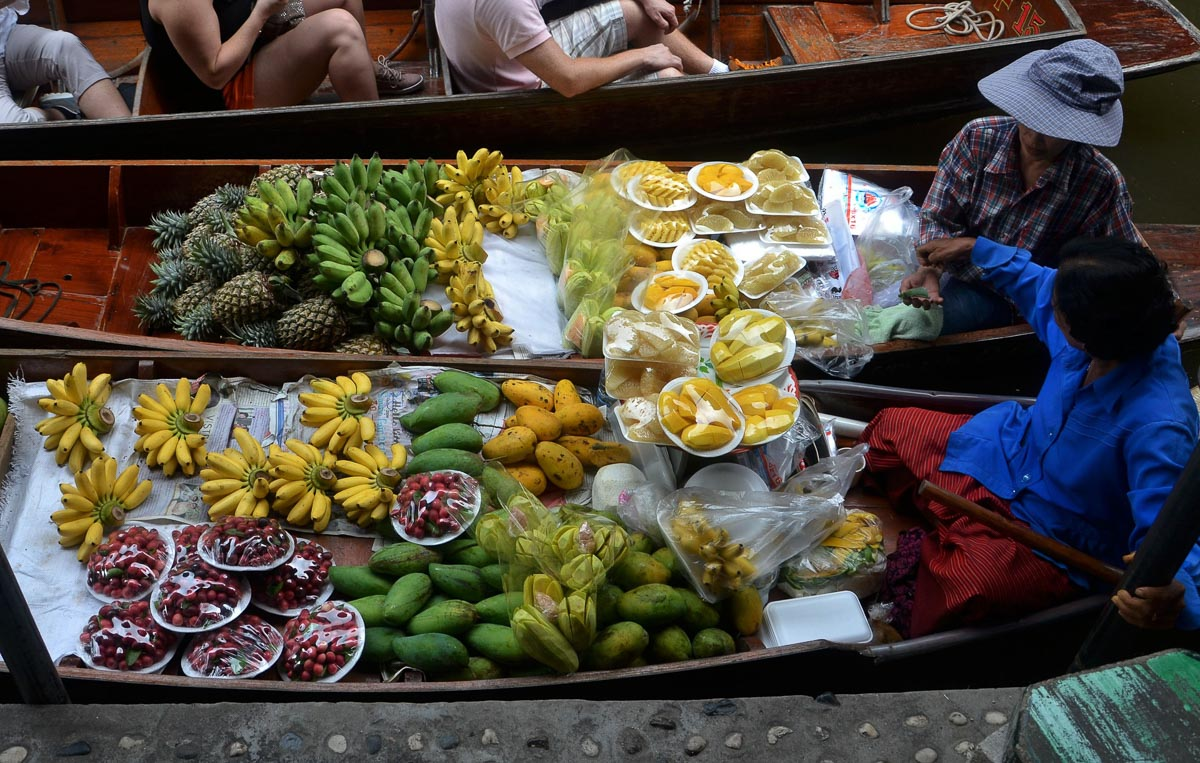 Floating Markets of Bangkok, photo credit Dean Moriarty