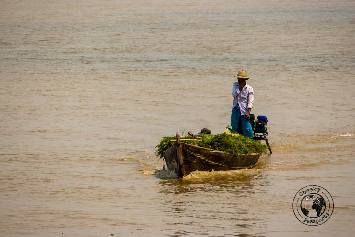 Going across the river in Mawlamyine