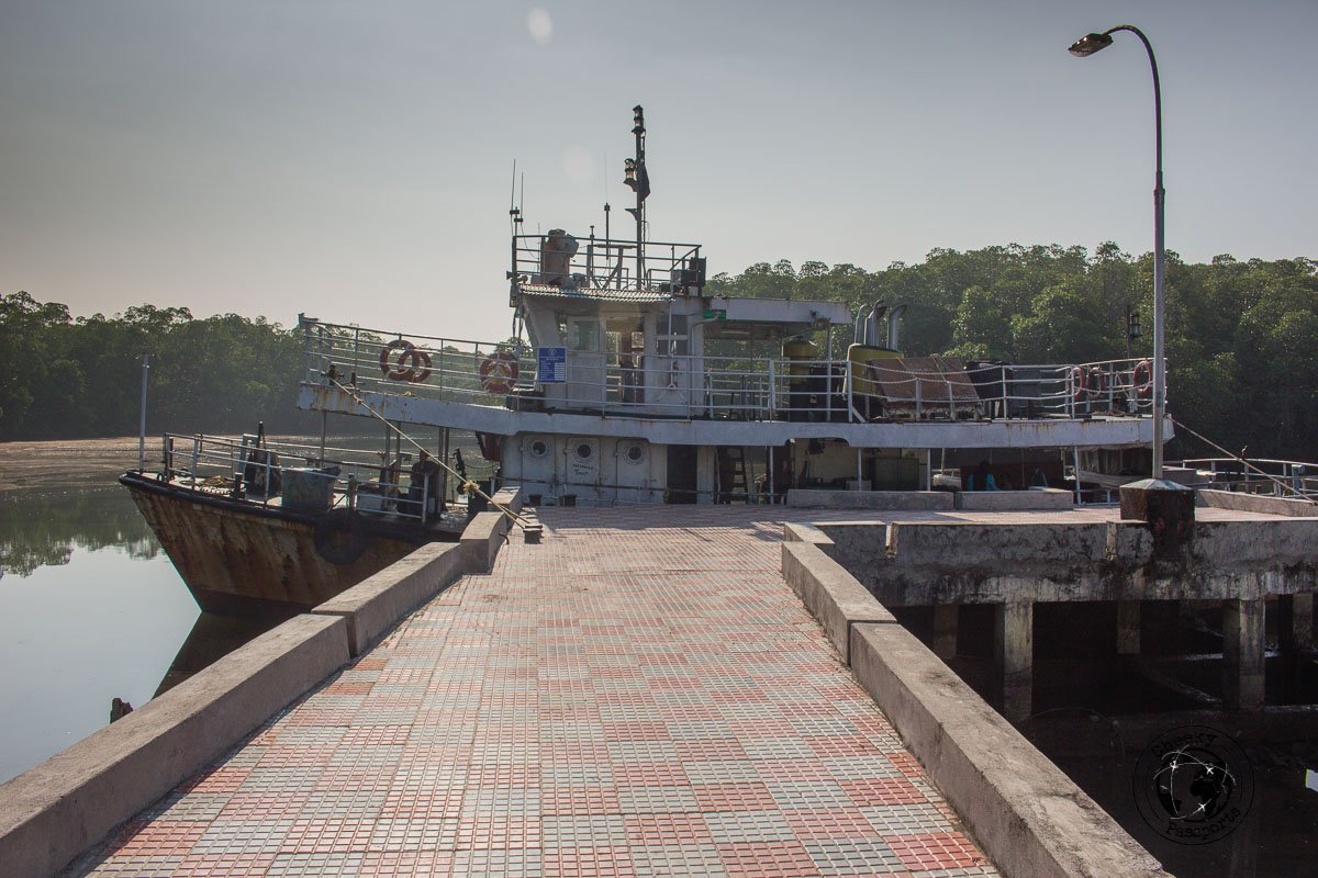 Government owned ferry from Rangat to Log Island, one of the top places to visit in Andaman