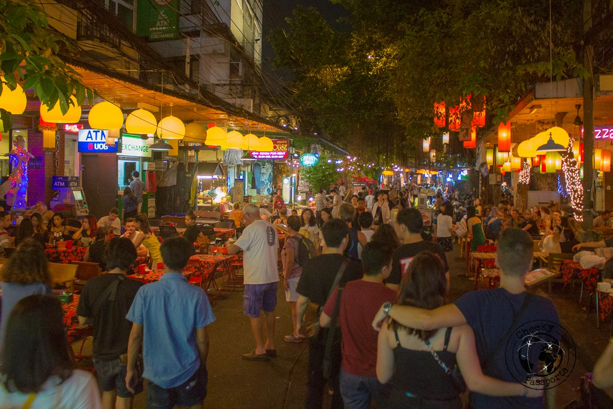 Khaosan road, infamous for all night partying