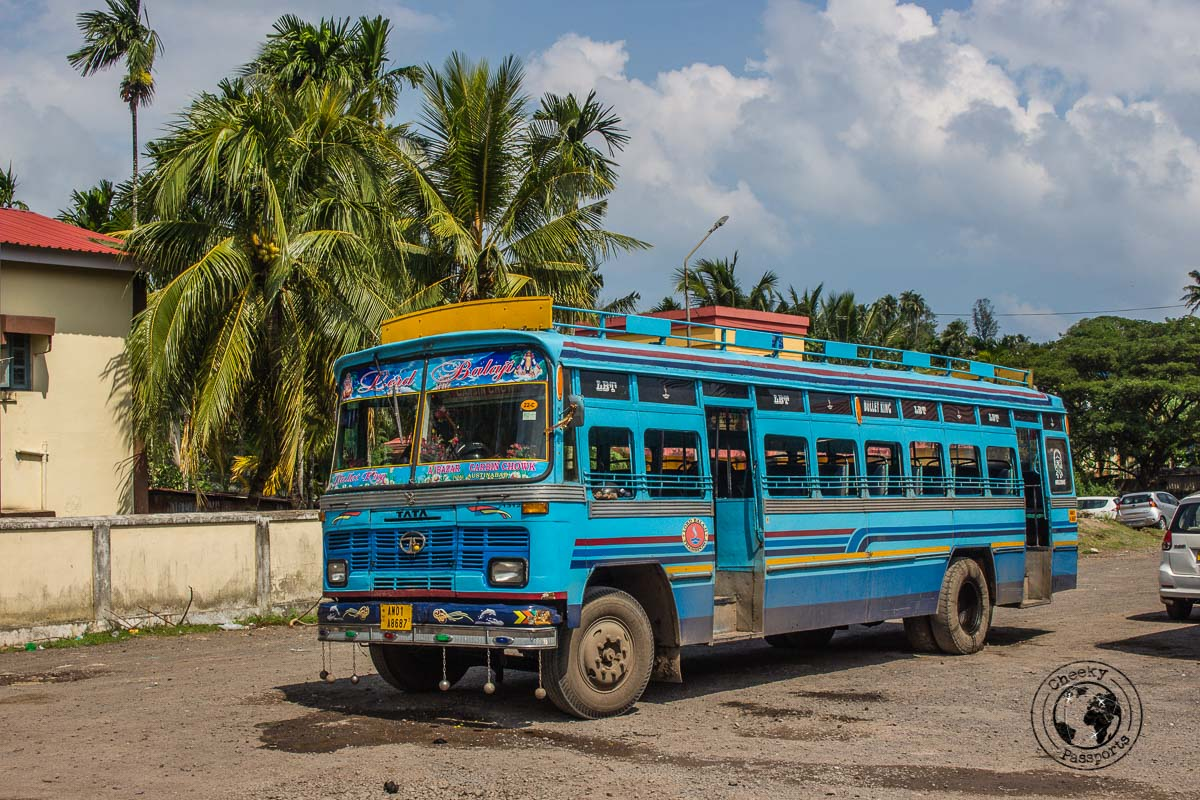 Privately run busses operating in Port Blair - two week andaman itinerary