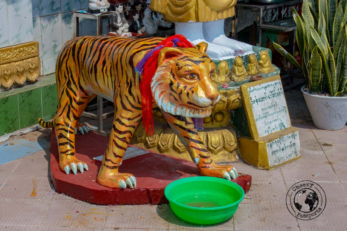 Quirky decorations at the pagodas in Mawlamyine, Myanmar