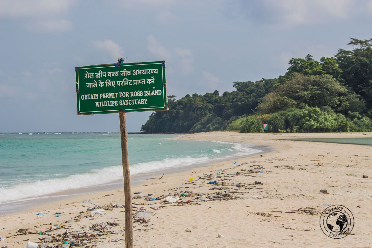 Ross island delination point, found in our two week andaman itinerary