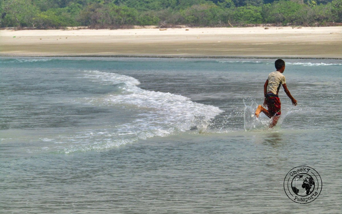 Running about the beaches of Myanmar