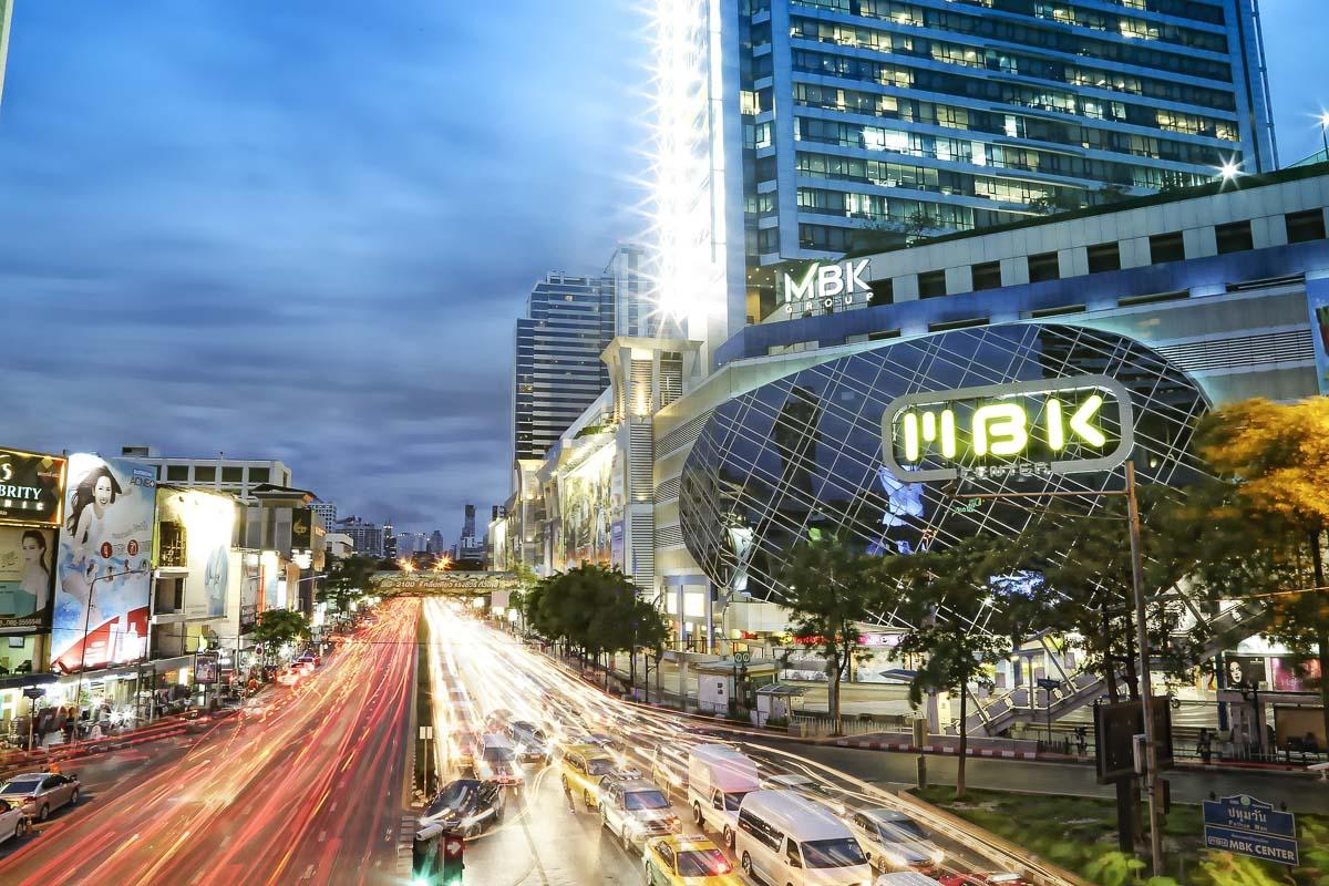 Shopping district of Bangkok, photo credit Mike Mike