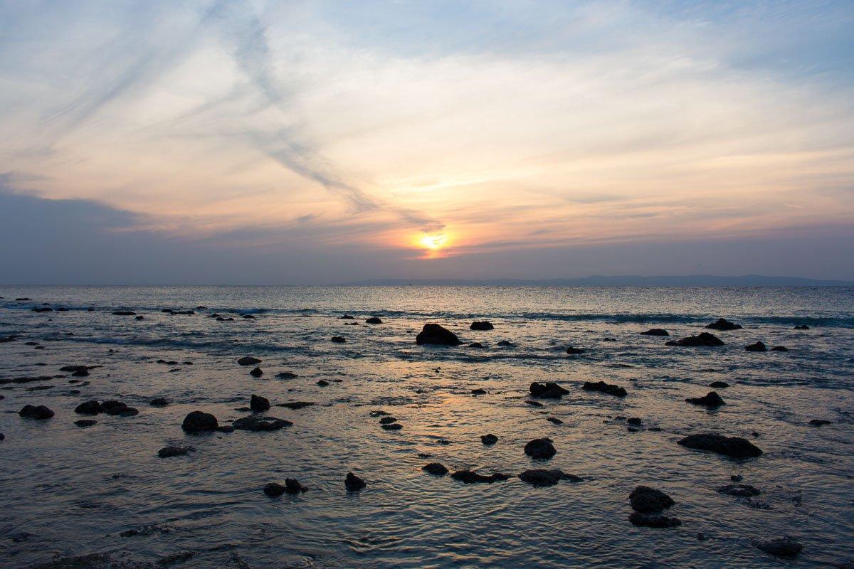 Sunset over Lakshmanpur beach in Neil island