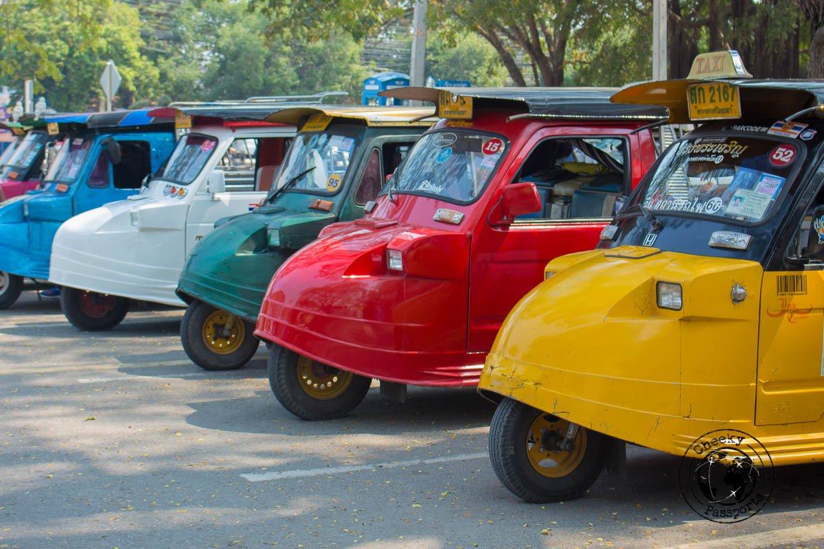 The Fancy rickshaws of Ayutthaya
