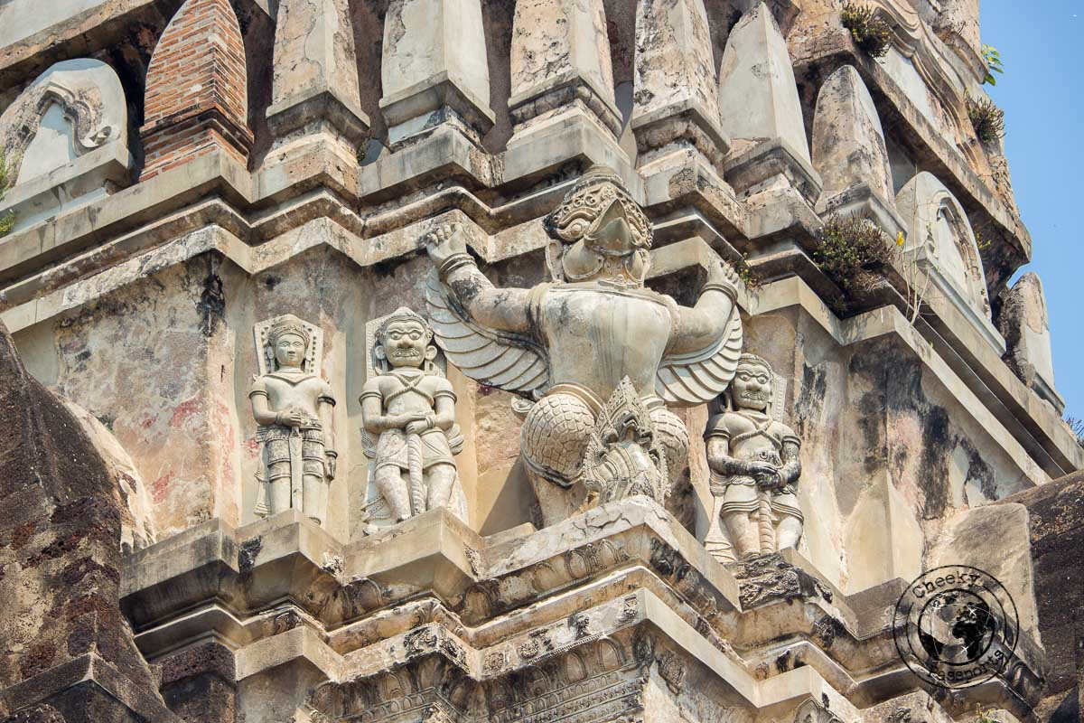 The architectural detail of Ayutthaya
