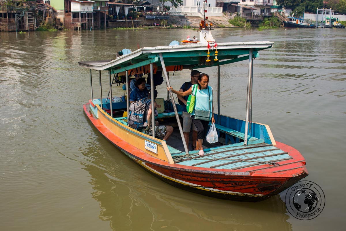 The ferry boat to ayutthaya