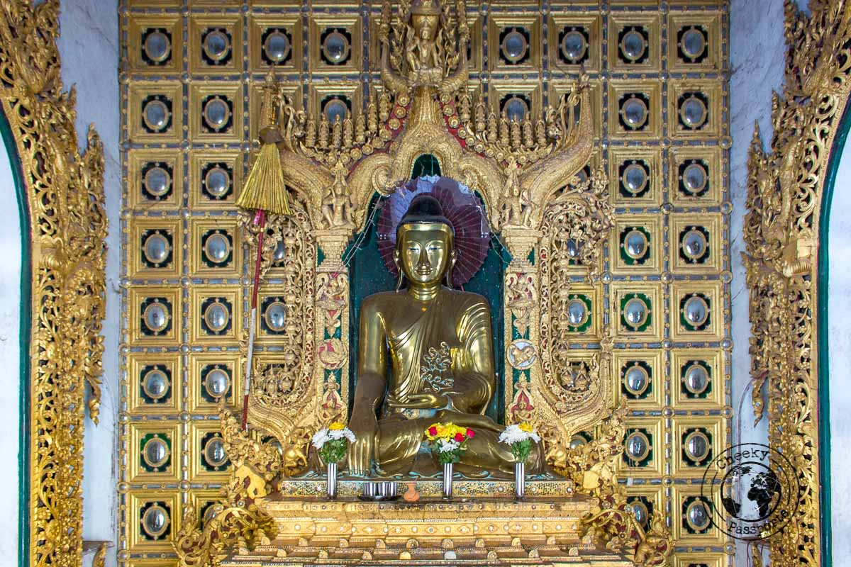 The intricate decorations within Mawlamyine pagodas in South Myanmar