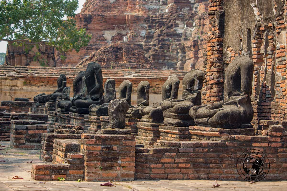 The ruins of the former Ayutthaya City