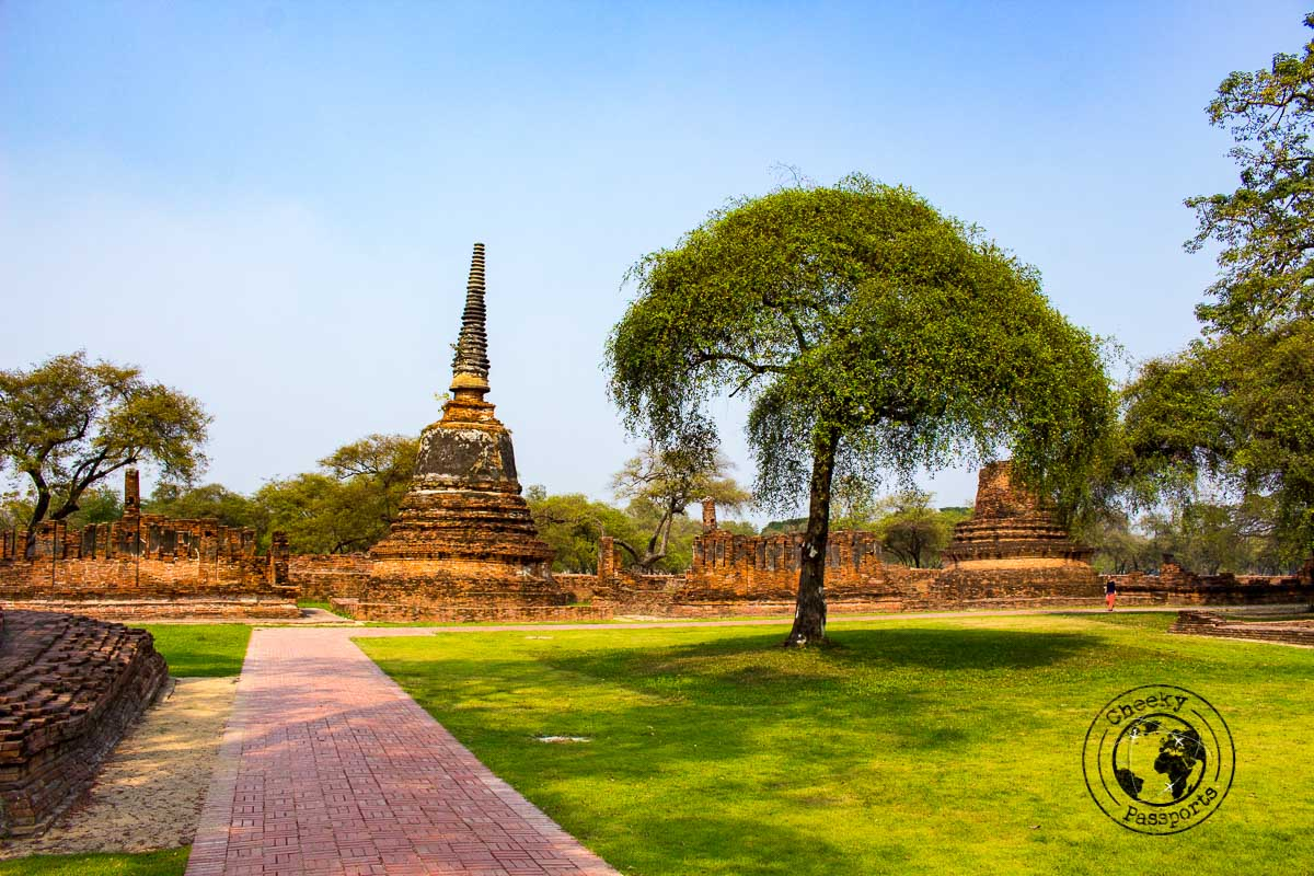 The temples complex of Ayutthaya Historical Park