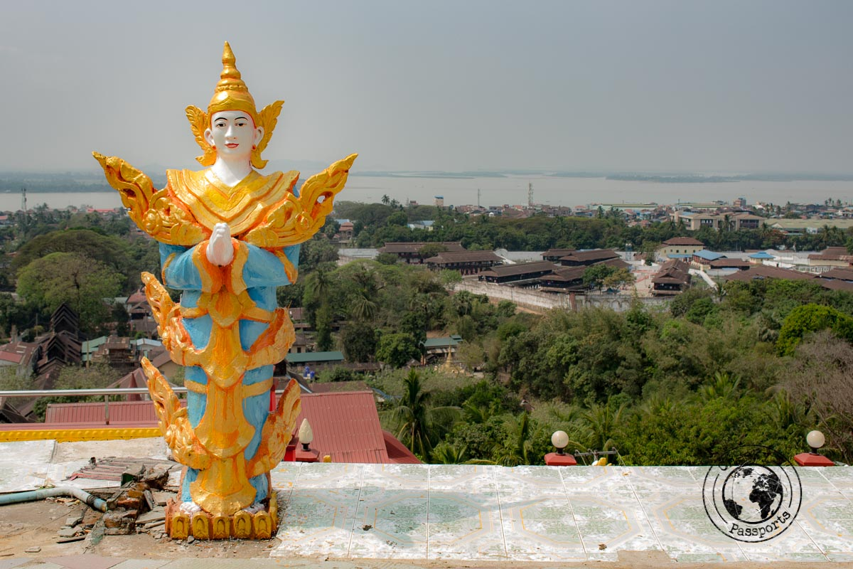 View of Mawlamyine in southern myanmar