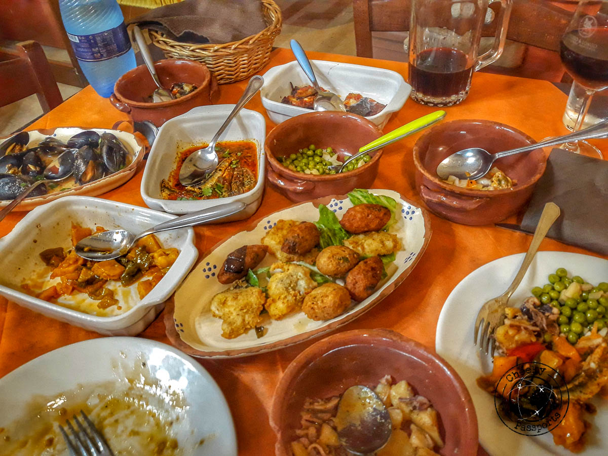 A Platter of many calabrian delicacies