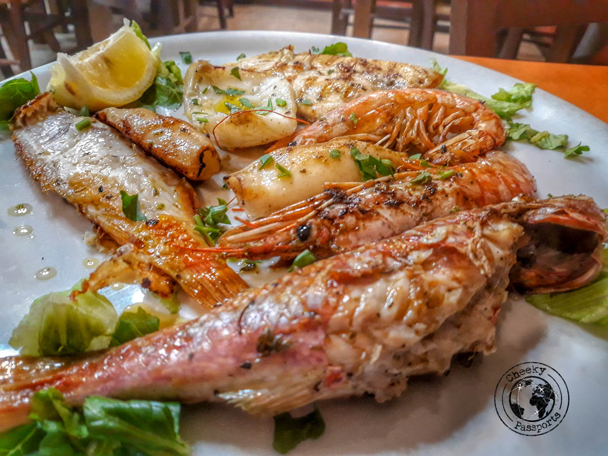 Fresh Fish is widely available in tropea