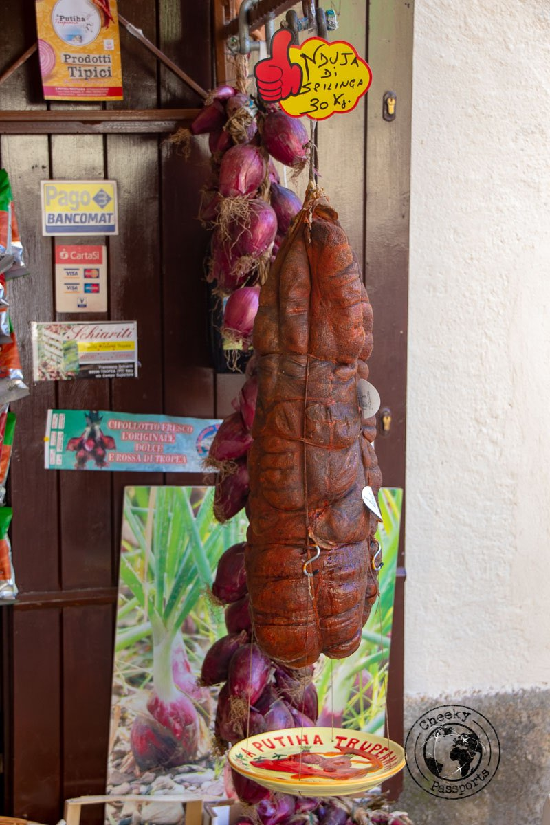 Nduja, a speciality of tropea and Calabria