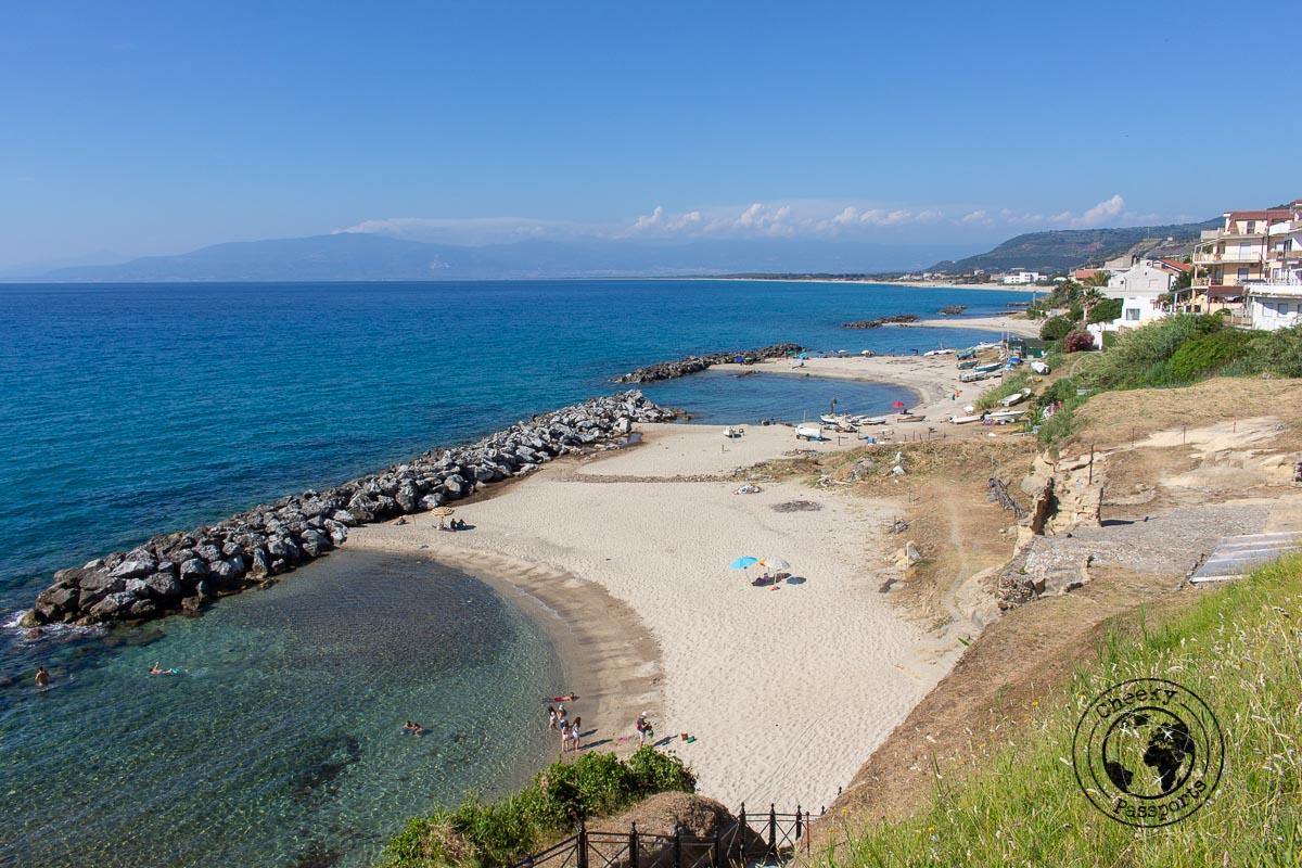 Piedigrotta Beach, one of the top tropea beaches